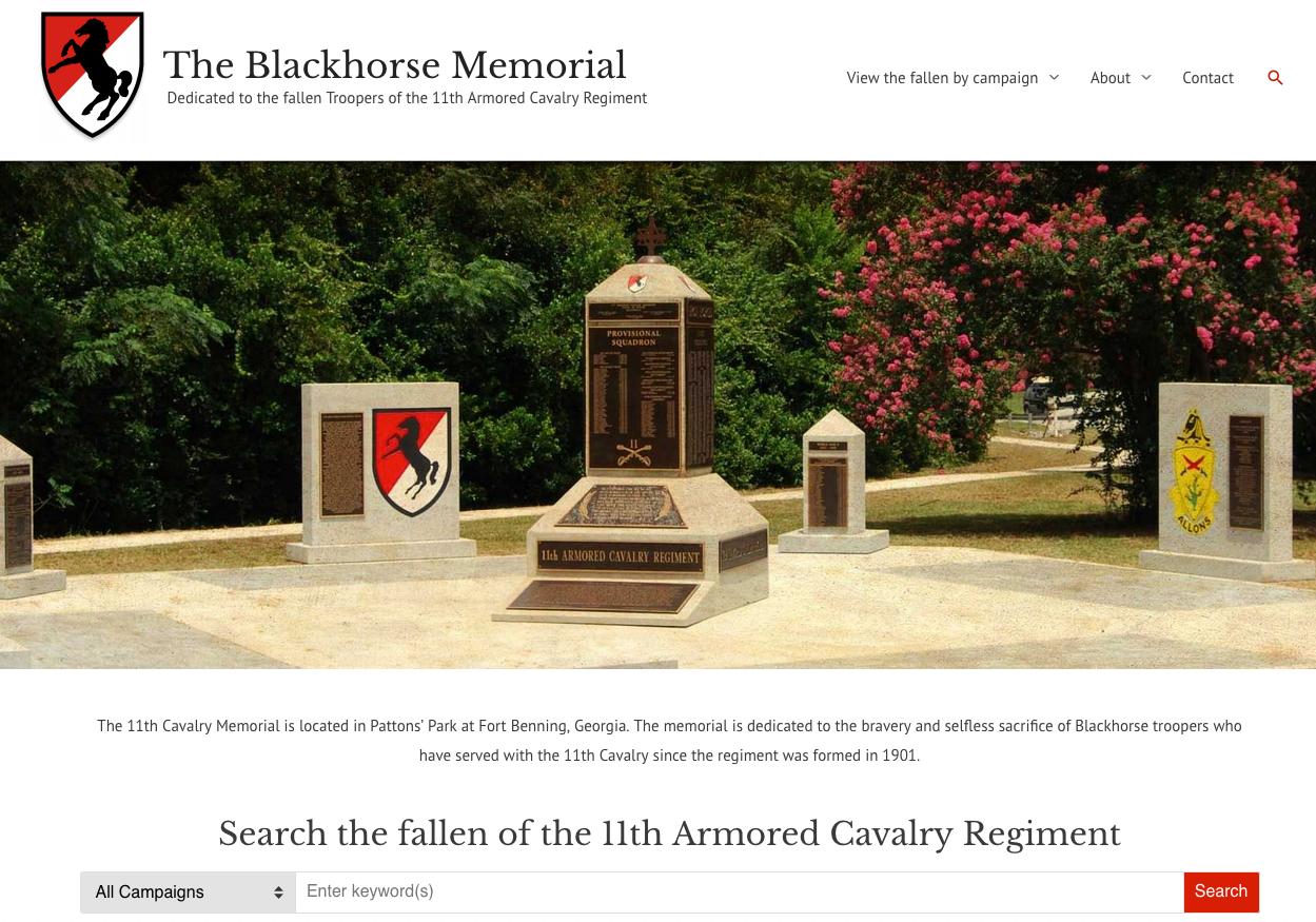 Blackhorse Memorial